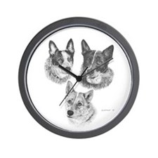 PeachesMattieMickOval Wall Clock