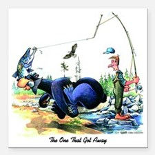 """The One That Got Away Square Car Magnet 3"""" x 3"""""""