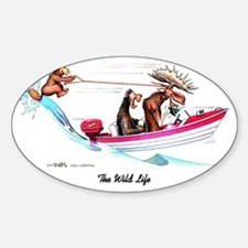 The Wild Life Sticker (Oval)