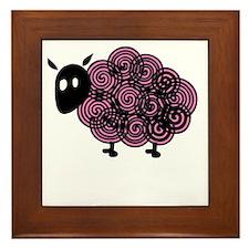 Big Sis Sheep -dk Framed Tile