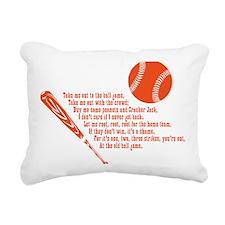 baseballpoem_onwhite Rectangular Canvas Pillow