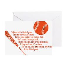 baseballpoem_onwhite Greeting Card