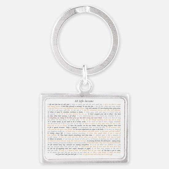 All50ScriptCard Landscape Keychain