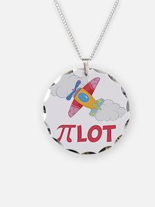 Pink Pilot Pi Necklace
