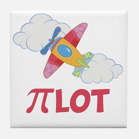 Pink Pilot Pi Tile Coaster