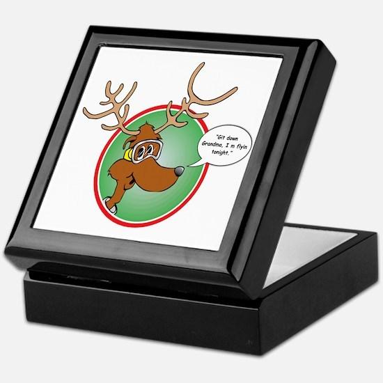 Grandma Got Run Over by a Reindeer Keepsake Box