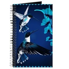 two blue Hummingbirds PosterP Journal