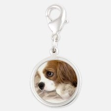 Ridley_watercolor Silver Round Charm