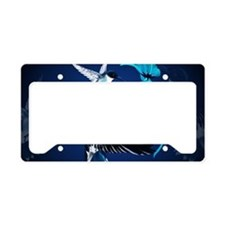 Two Blue Hummingbirds-Yardsig License Plate Holder