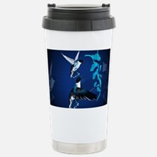 Two Blue Hummingbirds-Yardsign Travel Mug