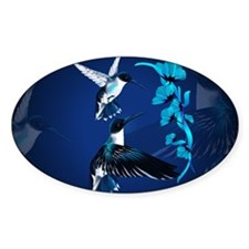 Two Blue Hummingbirds-Yardsign Decal