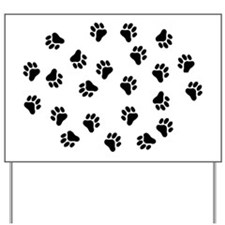 BLACK PAW PRINTS Yard Sign