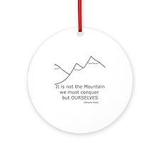 mountain Round Ornament