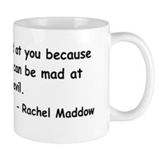 maddow stupid evil sticker black Mug
