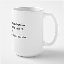 maddow stupid evil sticker black Large Mug