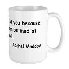 maddow stupid evil sticker black Mug