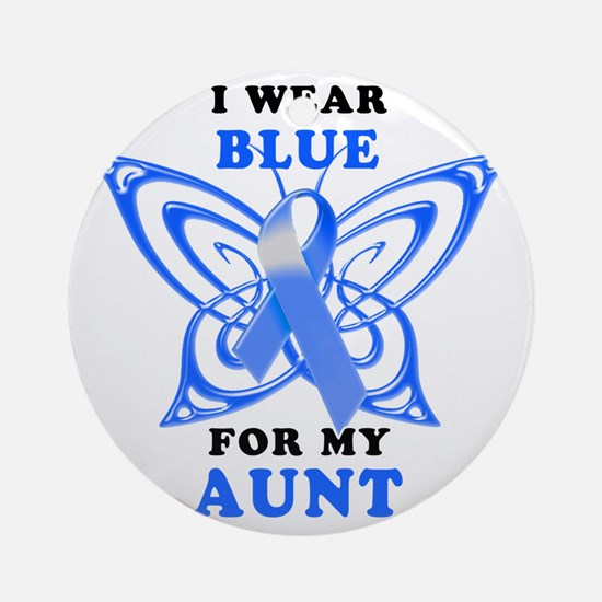 I Wear Blue for my Aunt Round Ornament