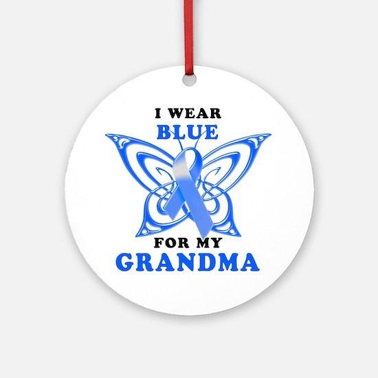 I Wear Blue for my Grandma Round Ornament
