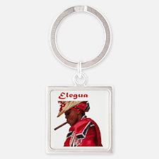 Elegua Square Keychain