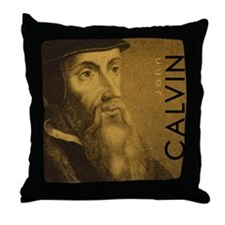 Mousepad_Head_Calvin Throw Pillow