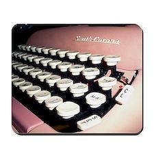 Pink Typewriter Journal Cover Mousepad