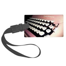 Pink Typewriter Journal Cover Luggage Tag