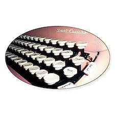 Pink Typewriter Journal Cover Decal