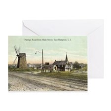 East Hampton - Pantigo Road postcard Greeting Card