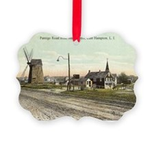 East Hampton - Pantigo Road postc Picture Ornament