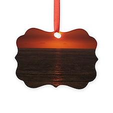 engle sunset5x7 Ornament