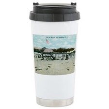 East Hampton beach vintage post Travel Mug