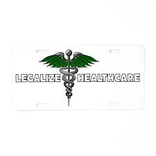 LEGALIZE HEALTHCARE4 Aluminum License Plate
