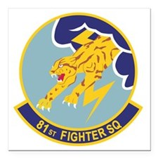 "81_fs_fighter Square Car Magnet 3"" x 3"""