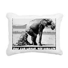 elephantMOUSEPAD Rectangular Canvas Pillow