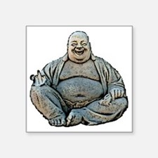 """laughing_buddha_finger_3in Square Sticker 3"""" x 3"""""""