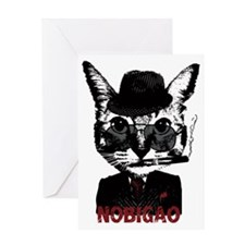 Cat Gangster Greeting Card