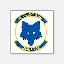 "157_fighter_SWAMP_FOX Square Sticker 3"" x 3"""
