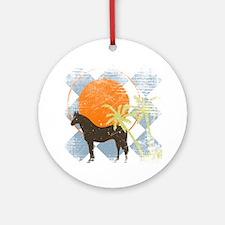 horsesungrunge Round Ornament