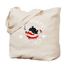 TeaParty-2010-round-Tee-Dark Tote Bag