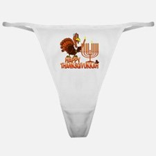 Happy Thanksgivukkah Classic Thong