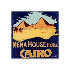 "3-yellow blue Cairo Square Sticker 3"" x 3"""
