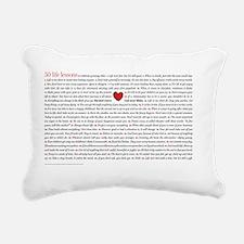 All50_heart_11x17 Rectangular Canvas Pillow