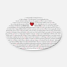All50_heart_11x17 Oval Car Magnet