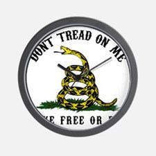 Dont Tread -wh Wall Clock