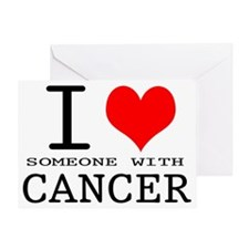 2-I Love Cancer copy Greeting Card