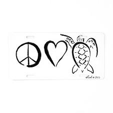 peaceturtle Aluminum License Plate