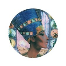 "7-Nefertiti 3.5"" Button"