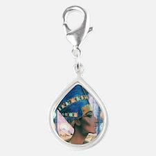 7-Nefertiti Silver Teardrop Charm
