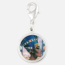 7-Nefertiti Silver Round Charm