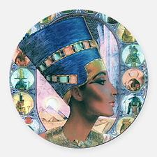 7-Nefertiti Round Car Magnet
